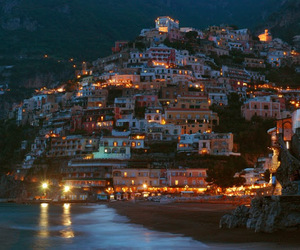 italy, lights, and beach image