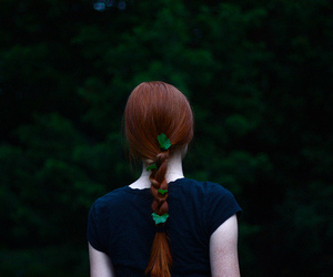 girl, nature, and red hair image