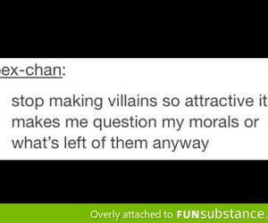 quote, text, and villain image