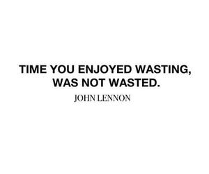 quotes, john lennon, and time image