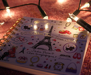 lights, paris, and iloveparis image