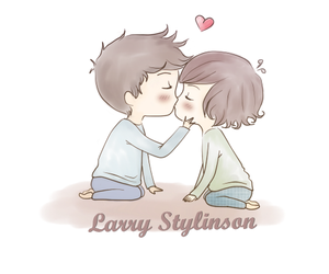 larry stylinson, larry, and kiss image