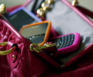 blackberry, pink, and bag image