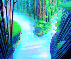 disney, forest, and pocahontas image