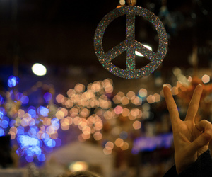 peace and glitter image
