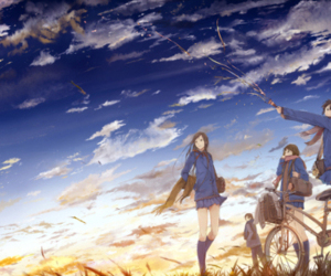sky and anime image