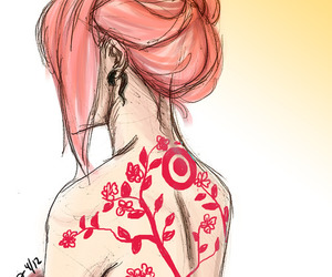 girl, sakura haruno, and anime image