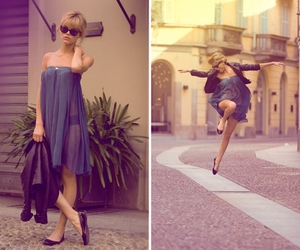 blonde, fashion, and bue image