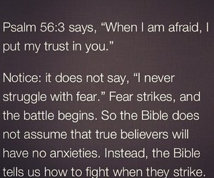 bible, afraid, and fear image