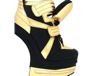 fashion, gold, and heels image