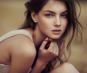 beautiful, brunette, and eyes image