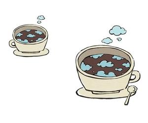 coffee, kawaii, and morning image