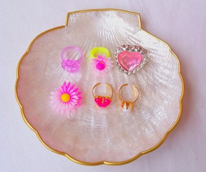 pink, ring, and shell image