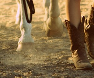 horse, boots, and Cowgirl image
