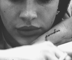 lana del rey, tattoo, and paradise image