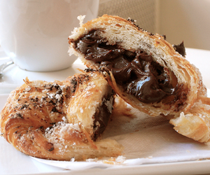 chocolate, croissant, and tasty image