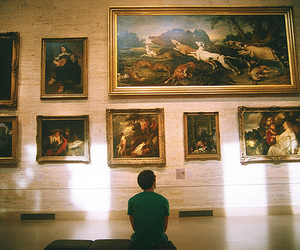 art, boy, and museum image