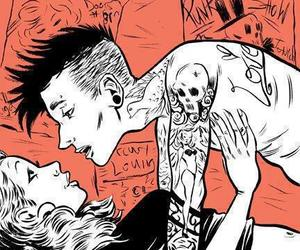 drawing, punk, and tattoo image