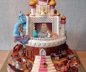 cake, disney, and aladdin image