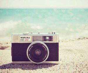 camera, beach, and vintage image