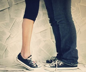 love, converse, and boy image
