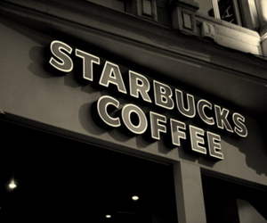 starbucks, coffee, and cafe image