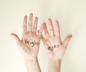 eyes, hands, and bright image