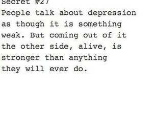depression, quote, and strong image