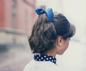 bow, dots, and fashion image