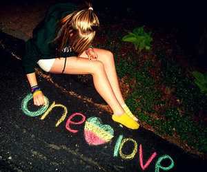 love, one love, and heart image