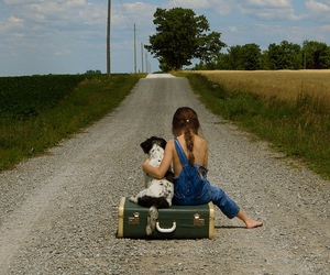 barefoot, country, and dog image