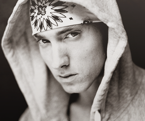 eminem and black and white image