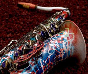 graffiti, music, and saxophone image