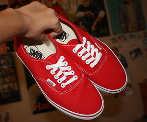 vans, color, and red image