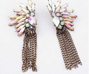 earrings, fashion, and vintage image