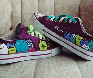 cats, shoes, and cute image