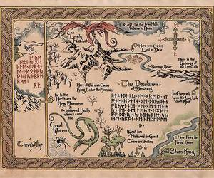 map, LOTR, and the hobbit image