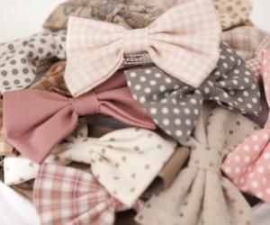bow, pink, and ribbon image
