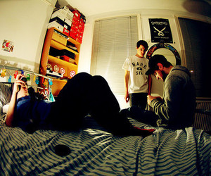 boy, bedroom, and friends image