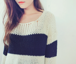 fashion, sweater, and black and white image