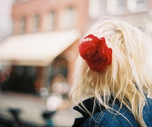 girl, flower, and hair image