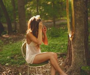 amazing, girl, and trees image