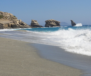 beach, crete, and Greece image