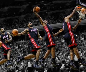 NBA, Basketball, and dunk image