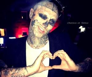zombie boy, boy, and tattoo image