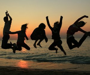jump, summer, and photography image