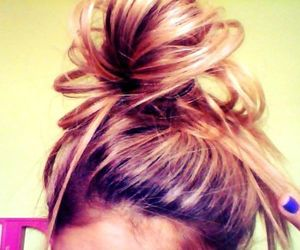 bun, pretty, and top knot image
