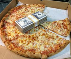 pizza, money, and food image