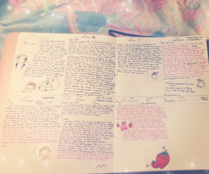 diary and pastel image