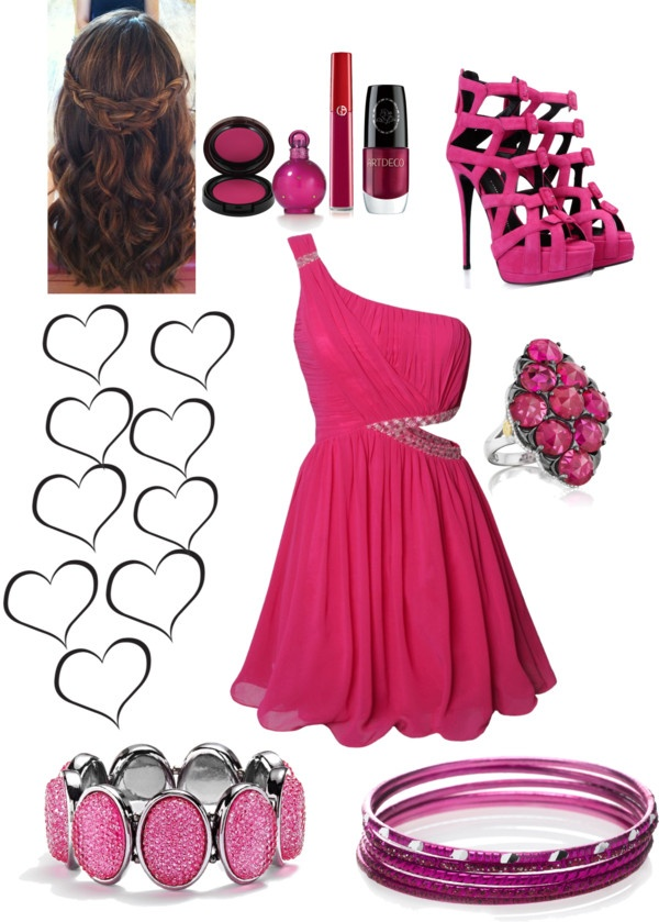 Style I Love Pink Dress Outfit By Highsugar Liked On Polyvore